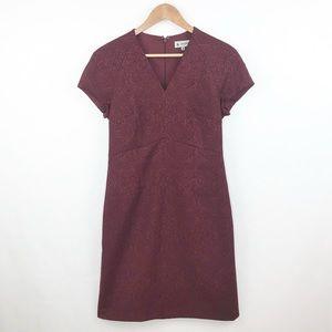 Ava & Aiden Red Wine Jacquard Sheath Dress Size 8